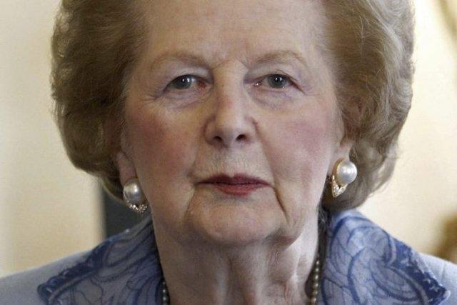 Margaret Thatcher, frappée de dégénérescence sénile et très... (Photo : Suzanne Plunket, AFP)