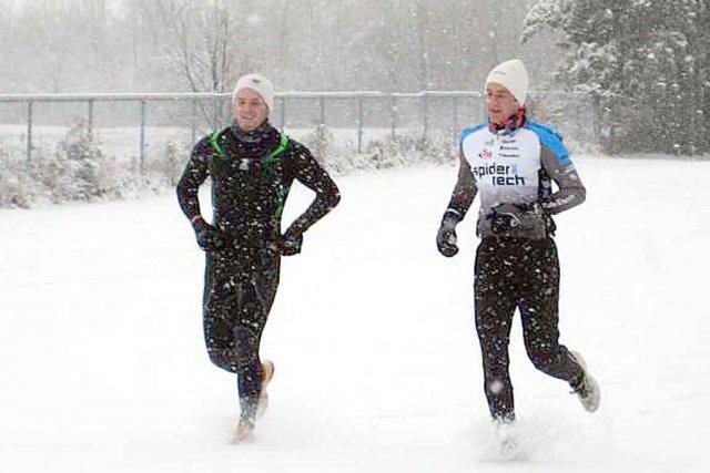 Pierrik Houle (à gauche) s'entraînait à l'occasion avec... (Photo tirée de Facebook)
