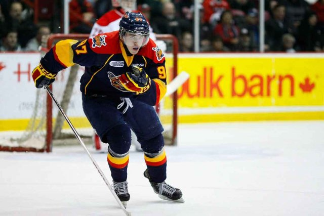 Connor McDavid joue dans la Ligue junior majeur... (Photo La Presse Canadienne)