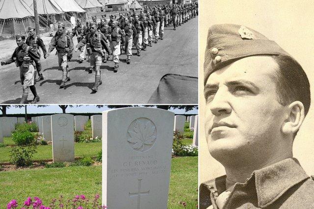 Le corps du lieutenant Guy Renaud repose au... (Photos: fournies par Francine Renaud)