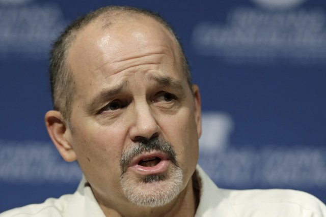 L'entraîneur-chef des Colts Chuck Pagano a lutté contre... (Photo : Darron Cummings, AP)