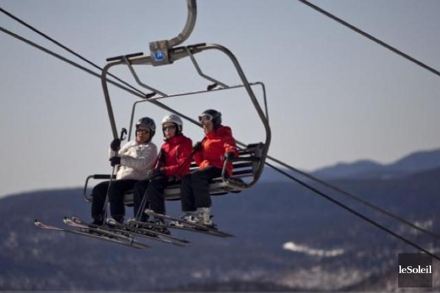 Les skieurs qui sont montés à bord de... (Photothèque Le Soleil)