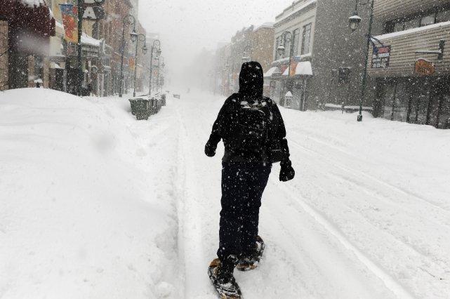 Près de 20cm de neige sont attendus jeudi en Estrie. De forts vents devraient... (Archives, La Tribune)