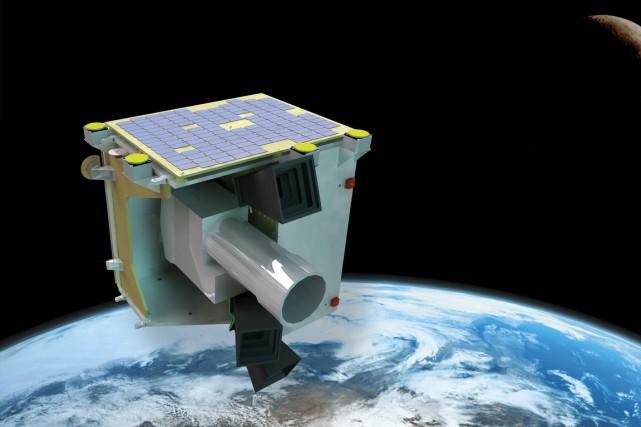 Le satellite Sapphire... (Photo fournie par MacDonald, Dettwiler and Associates)