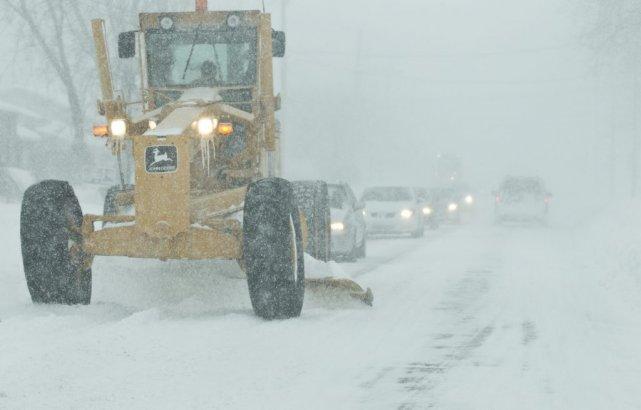 Un nouvelle tempête de neige frappera dimanche et lundi la Gaspésie,  les... (Photo: Hugo-Sebastien Aubert, La Presse)