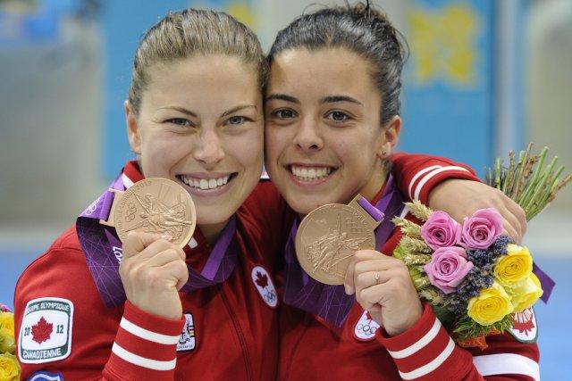 Meghan Benfeito et Roseline Filion aux Jeux olympiques... (Photo: Bernard Brault, La Presse)