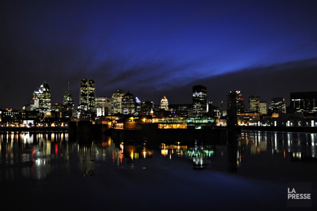 Le centre-ville de Montréal.... (Photo: Bernard Brault, La Presse)