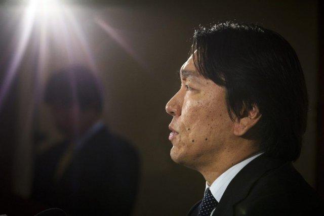 Hideki Matsui a annoncé la nouvelle jeudi lors... (Photo John Minchillo, Associated Press)