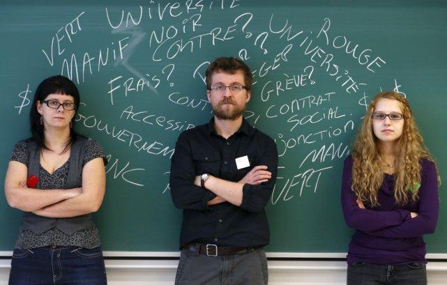 Stéphanie Ferland, Christian Landry et Brittanie Guay... (Le Soleil, Yan Doublet)
