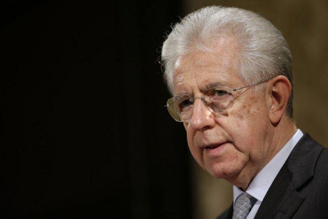 Le premier ministre italien sortant, Mario Monti.... (TONY GENTILE)