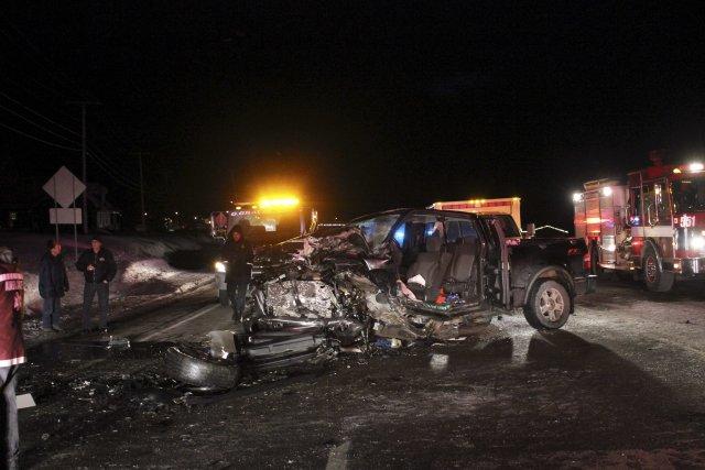 La petite municipalité de Chambord a été le théâtre d'une collision d'une... (Photo Isabelle Tremblay)