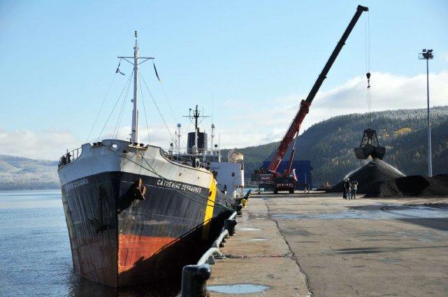 Port Saguenay enregistre une baisse de 10% du volume de marchandises transitées... (Archives)