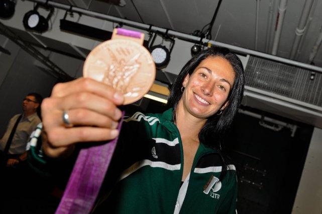 Sa médaille de bronze et, surtout, son parcours... (photo: émilie o'connor)