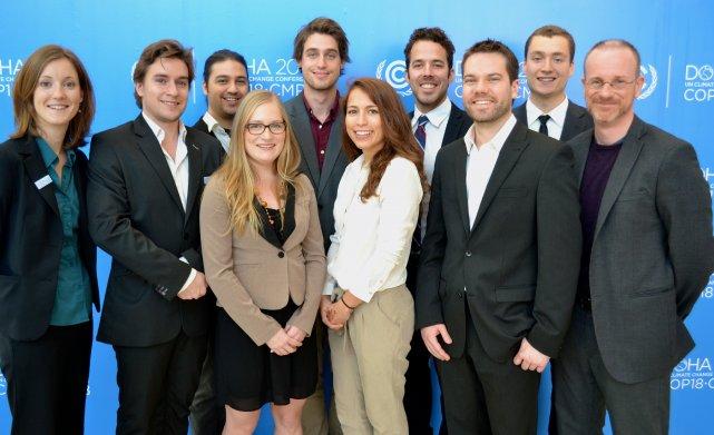 Huit étudiants de l'Université de Sherbrooke ont participé au dernier sommet de... (Photo fournie)