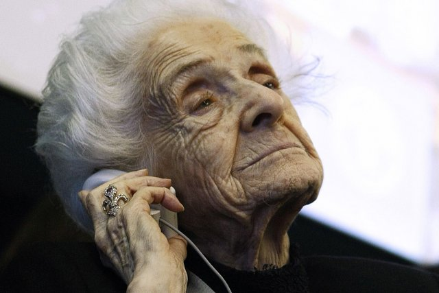 Rita Levi-Montalcini, photographiée en novembre 2009 lors d'un... (Photo: archives AFP)
