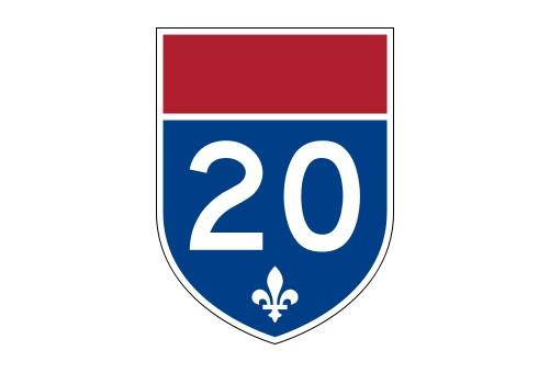 Une voie de l'autoroute 20 en direction de Rivière-du-Loup a été de  nouveau...