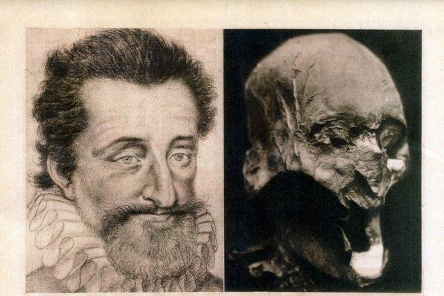 À gauche, un portrait du roi Henri IV,... (Photo : AFP)
