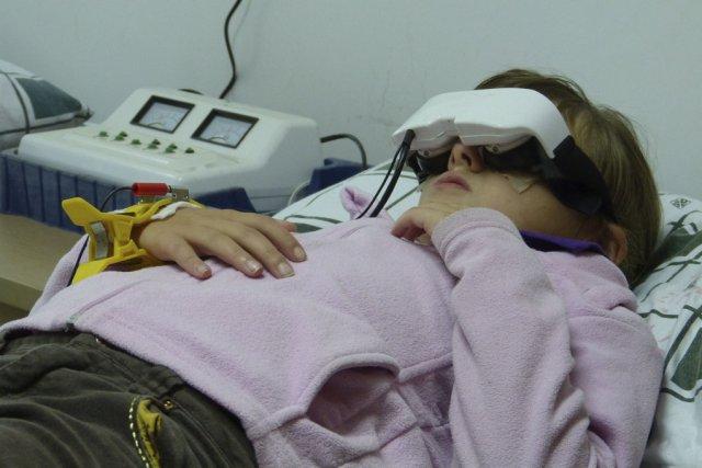 La petite Rosalie Perron-Savard en plein traitement.... (photo fournie par la famille)