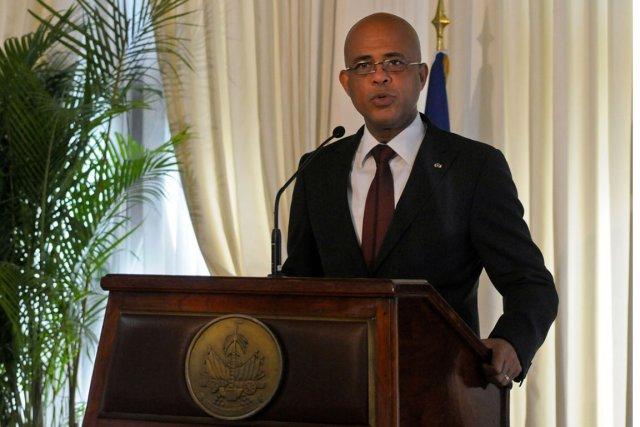 Le président haïtien, Michel Martelly.... (PHOTO SWOAN PARKER, REUTERS)