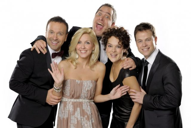 Joël Legendre, Véronique Cloutier, Michel Courtemanche, Hélène Bourgeois... (Photo fournie par Radio-Canada)