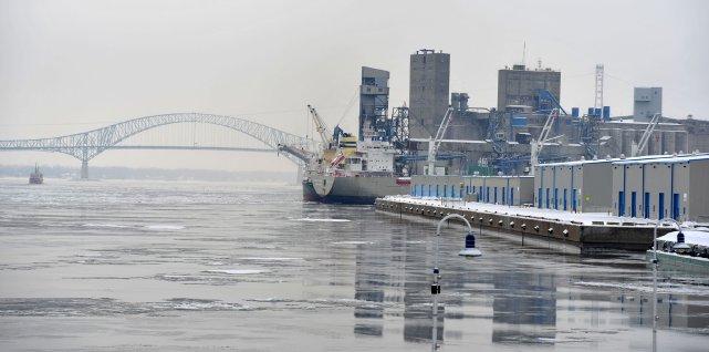 Le port de Trois-Rivières.... (Photo: Stéphane Lessard)