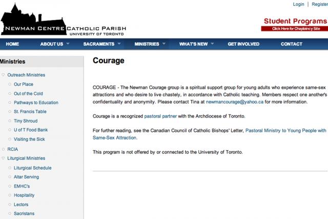 La page internet du groupe décrivant le programme.... (Photo tirée d'internet)