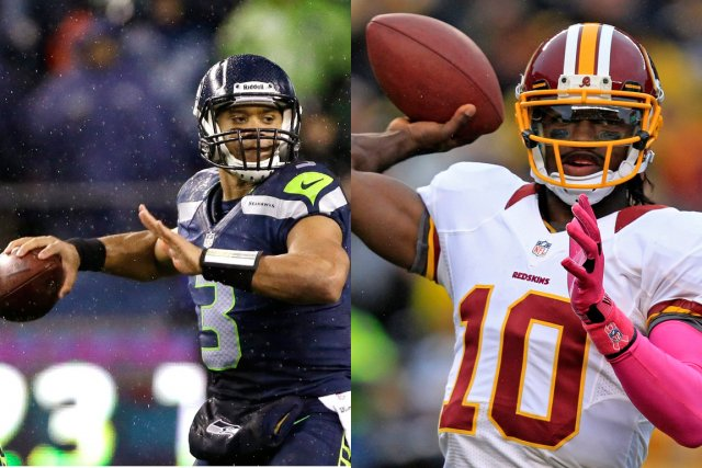 Russell Wilson et Robert Griffin III... (Photos : Associated Press)