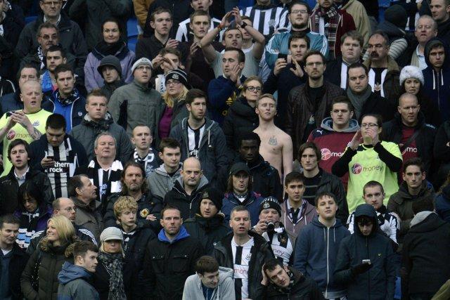 Les partisans de Newcastle étaient dépités dans les... (Photo : Philip Brown, Reuters)