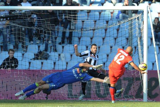 Jonathan Cicero Moreira a raté une chance de... (Photo : Simone Ferraro, AFP)