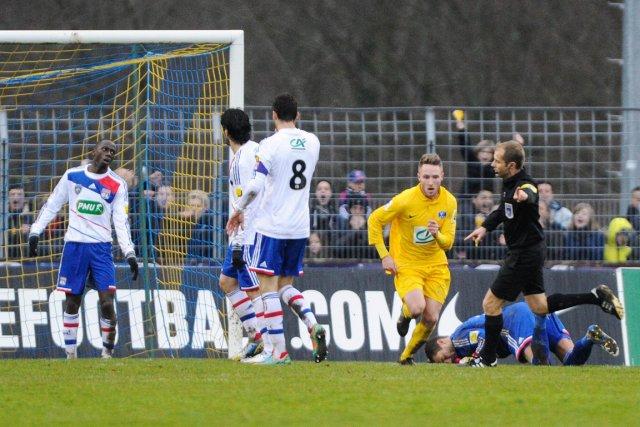 Valentin Focki avait créé l'égalité 3-3 pour Épinal.... (Photo : Sébastien Bozon, AFP)