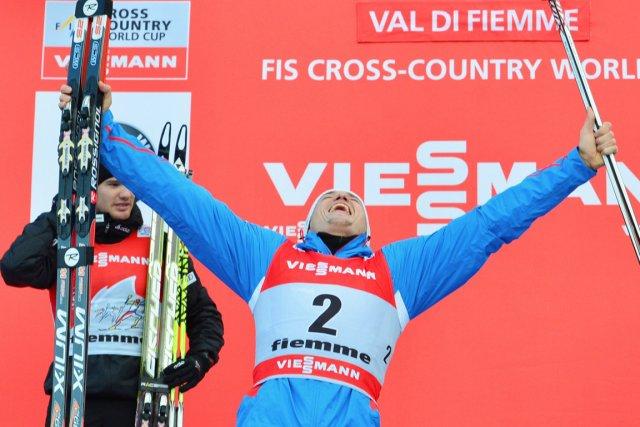 Alexander Legkov a relégué à la  2e... (Photo : Giuseppe Cacace, AFP)