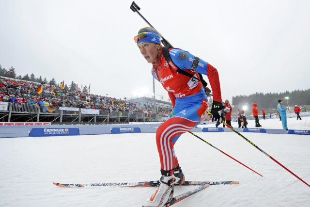 Olga Zaitseva a remporté le 10 km chez... (Photo : Jens Meyer, AP)