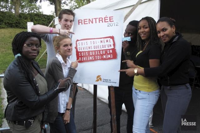 Des étudiants internationaux, en majorité en provenance des... (Photo fournie par le Cégep de Rivière-du-Loup)