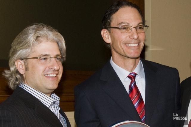 L'entraîneur-chef des Alouettes Marc Trestman (à droite) rencontrera... (Photo: Rémi Lemée, archives La Presse)