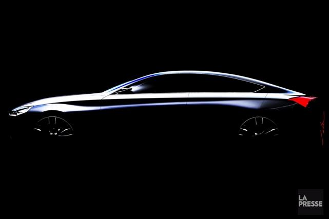 Le concept HCD-14, de Hyundai, qui sera dévoilé... (Image fournie par Hyundai)