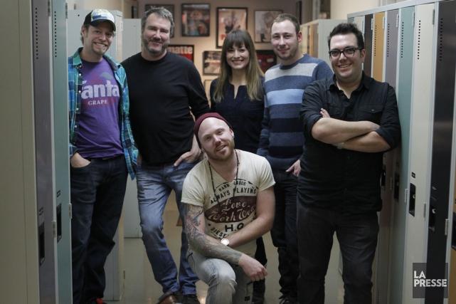 Jean-François Léger, Marc Brunet, Sébastien Ravary, Marie-Hélène Lapierre,... (PHOTO MARTIN CHAMBERLAND, LA PRESSE)