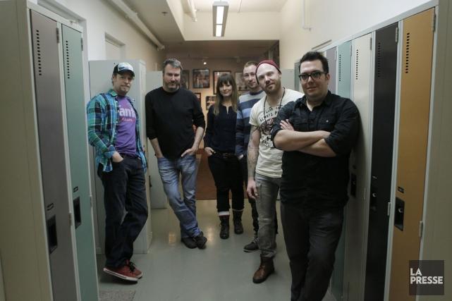 Jean-François Léger, Marc Brunet, Marie-Hélène  Lapierre, Simon... (PHOTO MARTIN CHAMBERLAND, LA PRESSE)