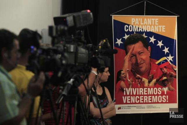 Le président Chavez est invisible depuis son départ... (Photo: Reuters)