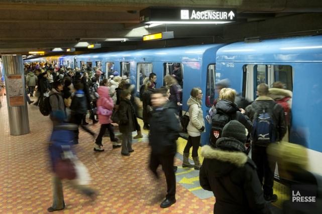 Le réseau du métro a vraisemblablement connu plus de 1000interruptions de... (Photo: Robert Skinner, La Presse)