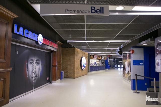 Les corridors vides du Centre Bell seront bientôt... (Photo: La Presse)