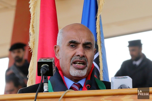 Mohamed Megaryef, président du parlement, a dû démissionner... (PHOTO MAHMUD TURKIA, AFP)