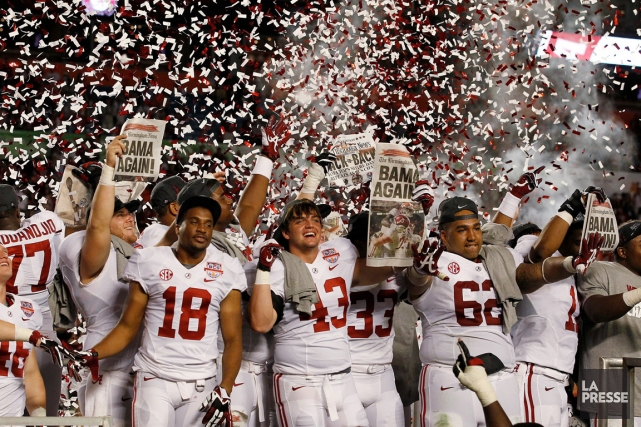 Les joueurs du Crimson Tide de l'Université de... (Photo: AP)