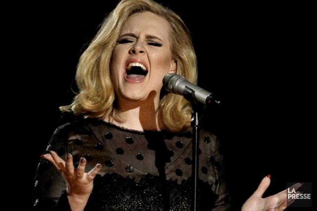 Adele... (Photo: archives AP)