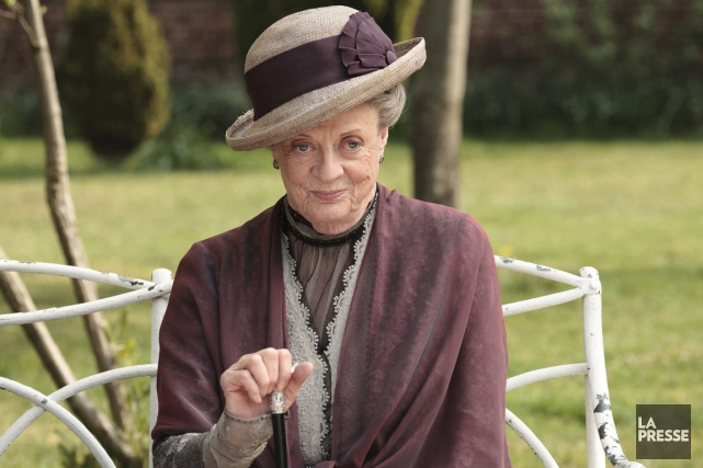 Maggie Smith dans Downton Abbey.... (Photo Nick Briggs, Associated Press)