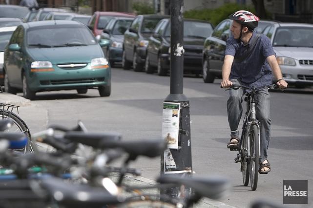 Le projet de «vélorues» consisterait à interdire, dans... (Photo: André Pichette, La Presse)