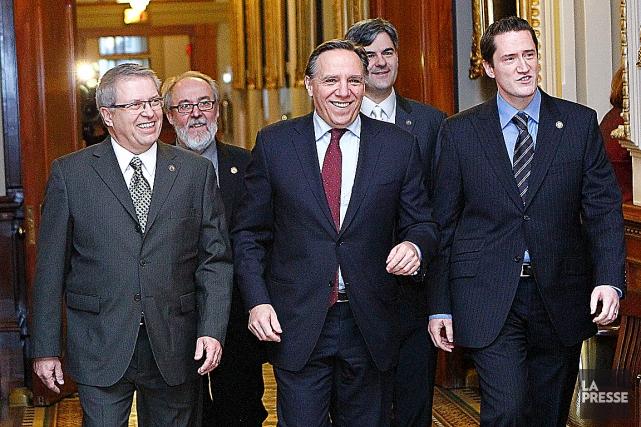 En décembre 2011, les ex-péquistes Daniel Ratthé (à... (Photothèque Le Soleil, Yan Doublet)