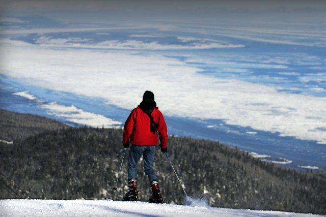 Ski au Massif de Charlevoix.... (Photo: Bernard Brault)