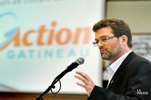 Maxime Pedneaud-Jobin, chef d'Action Gatineau, sait qu'il ne... (Martin Roy, Archives LeDroit)