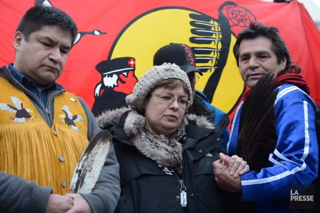 La chef de la réserve d'Attawapiskat, Theresa Spence,... (Photo: La Presse Canadienne)