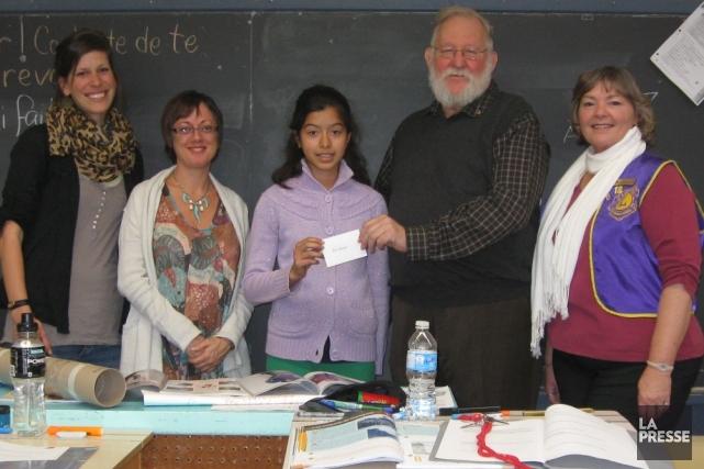 Adriana Cubias Madrid de l'école Larocque a gagné...